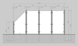 Glaszaun - Komplettset HB-G3SL