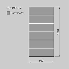Zaunelement - Glas LGP-1901-BZ