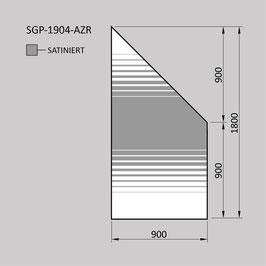 Zaunelement - Glas SGP-1904-AZR (RECHTS)