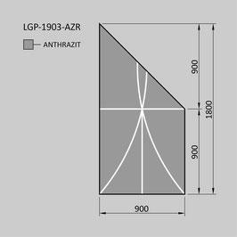 Zaunelement - Glas LGP-1903-AZR (RECHTS)