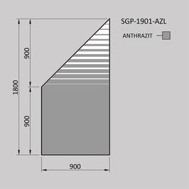 Zaunelement - Glas SGP-1901-AZL (LINKS)