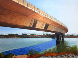 Puente sobre el cauce nuevo en Pinedo