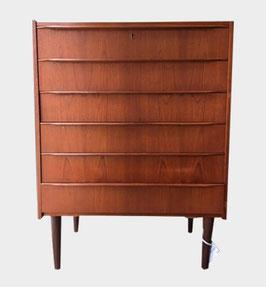 Commode à 6 tiroirs années 60