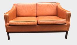 Canapé en cuir roux