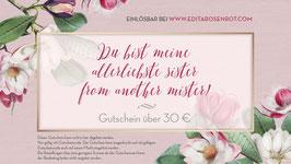"""Gutschein """"Du bist meine allerliebste sister from another mister!"""""""