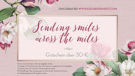 "Gutschein ""Sending smiles across the miles"""