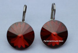 Ohrhänger 12 mm Red Magma