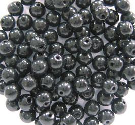Glasperlen rund 4 mm schwarz