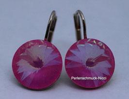 Ohrhänger 12 mm Ultra Pink
