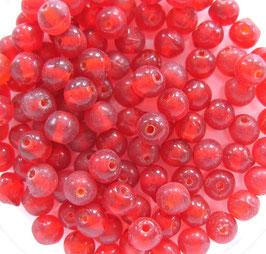 Glasperlen rund 4 mm rot
