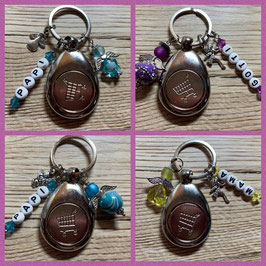 Schlüsselanhänger mit Einkaufwagenchip