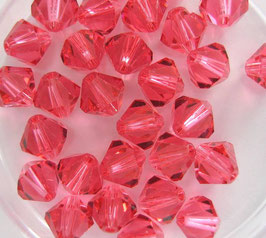 Indian Pink Bicone 6 mm