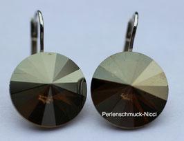 Ohrhänger 12 mm Crystal Bronze Shadow