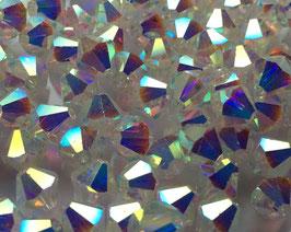 Crystal AB2x  Bicone 6 mm