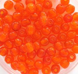 Glasperlen rund 4 mm orange matt