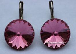 Ohrhänger 12 mm Rose