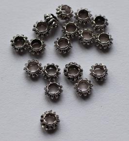 Zwischenperle mit Grossloch 6,6x3,8 mm