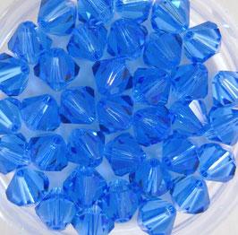 Sapphire Bicone 6 mm