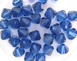 Dark Sapphire Bicone 6 mm