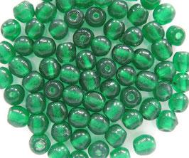 Glasperlen rund 4 mm dunkelgrün