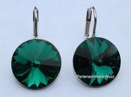 Ohrhänger 14 mm Emerald
