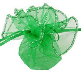 10 runde Organza Säckli in grün