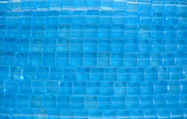 1 Strang Glaswüfel 4 mm aqua