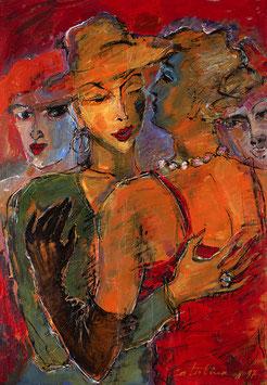 """Catalina Braun """"Geflüster"""" 60x85 cm, Fine-Artprint auf reinweissem Mattpapier, lichtbeständig"""