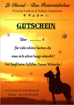 Geschenk - Gutschein über 15 Euro