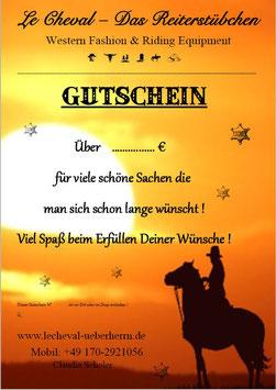 Geschenk - Gutschein über 25,- Euro