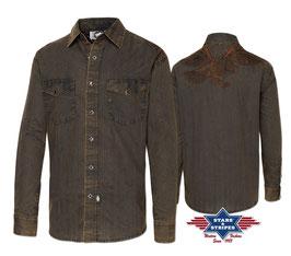 Stars & Stripes   Western - Herrenhemd ,, Golden Eagle,,