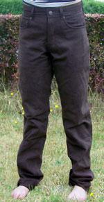 Echt-Lederhose aus Nubukleder