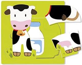 Puzzle 2+ anni mucca latte formaggio