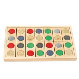 Domino tattile in legno