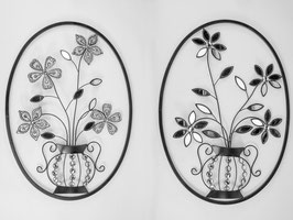 Quadro ovale fiore