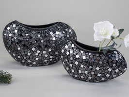 Fiorera Vaso mosaico argento