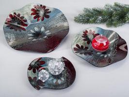 Piatto vetro decorato