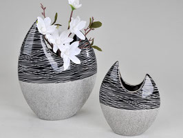 Vaso planare nero argento