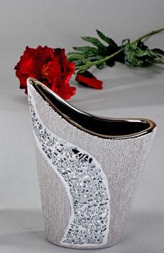 Vaso mosaico argento
