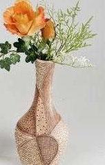 Vaso in ceramica crema