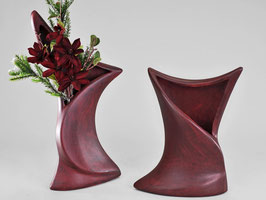 Vaso decorativa Bordeaux in ceramico con superficie rosso-nero