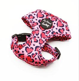 Rosa Leopard Hundegeschirr