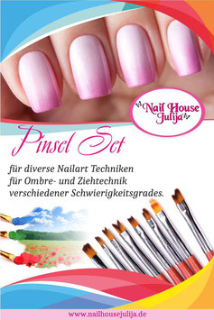pinsel set 'diverse nailart'