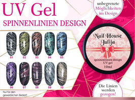 UV Spinnenlinien Design mit Metallic Effekt