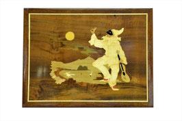 Quadro in legno intarsiato Pulcinella