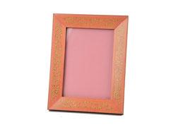 Cornice porta foto intarsiata rosa antico