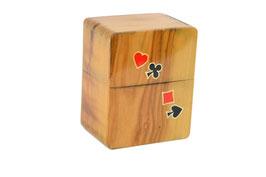 Porta carte da gioco in ulivo