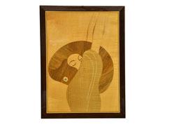 Quadro in legno intarsiato Arte moderna 1