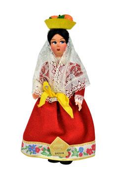 Bambola da collezione in lenci costume Sicilia