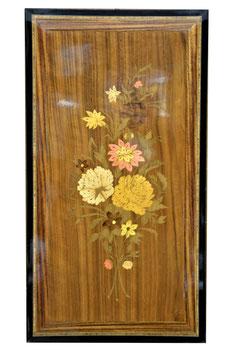 Quadro intarsiato motivi floreali